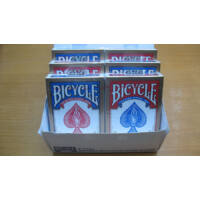 Bicycle 808 Rider Back póker kártya, 6-pack (3 piros + 3 kék)