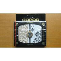 COPAG 100% műanyag bridzskártya (fekete/arany), dupla csomag